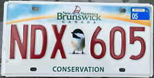 ◕‿◕  AUTHENTIC CANADA 2015's NEW BRUNSWICK BIRD LICENSE PLATE. CONSERVATION