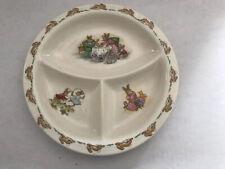 "Royal Doulton Bunnykins 9"" Plate English Fine Bone China © 1936 Antique Divided"