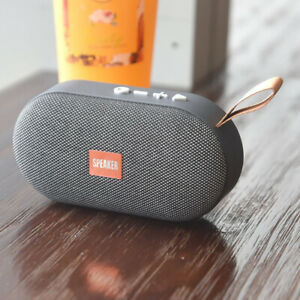 Loud Bluetooth Speaker Mini Fabric Wireless Stereo Bass USB/TF/FM Radio Outdoor