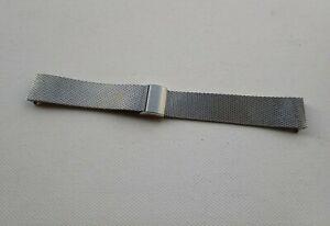 Vintage NOS unbranded Stainless Steel Milanese Watch Bracelet 18mm