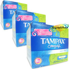 3x Tampax Compak Super 20 Tampons With Applicator