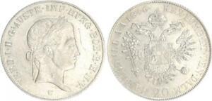 Deutschland / Österreich 20 Kreuzer 1846 C Ferdinand I. ss-vz,kl.Kratzer 41820