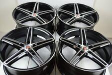 4 New Ddr Talon 18x8 5x1143 35mm Black Machined Face 18 Wheels Rims Fits 2011 Toyota Camry