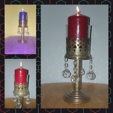 Copper & Brass Mix With Glass/ Crystal Candle Hanging Hurricane Lanterns/decor