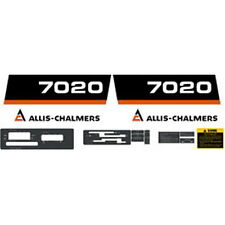 New 7020 Allis Chalmers Tractor 7020 Complete Decal Set High Quality Decals