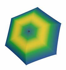 doppler Fiber Havanna Spirit Regenschirm Accessoire Blue / Yellow Blau Grün Neu