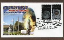 2019 - 50TH ANNIVERSARY MOON LANDING / ROCKETDYNE ~ GLEN CACHET FIRST DAY COVER