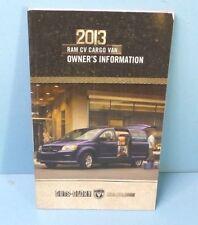 13 2013 Dodge Ram CV Cargo Van owners manual/user guide
