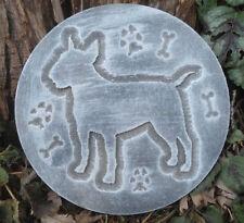 Bull Terrier mold garden plaque decorative plaster concrete casting mould