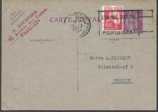 1935  ENTIER POSTAL  CARTE POSTALE TYPE PAIX