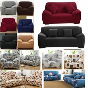 Elastic Sofa Covers Slipcover Settee Stretch Floral Couch Protector 1-4 Seater