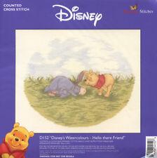 Winnie the Pooh Watercolours - Hello There Friend Cross Stitch Kit *NEW*
