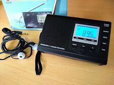 HRD-310 Portable AM FM SW Digital Display 9 Band Pocket Radio Alarm Clock Stereo