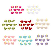 10Pcs Hand Crocheted Butterfly Flowers Appliques Handmade DIY Sewing Crafts