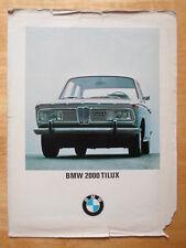 BMW 2000 TI LUX ORIGINALE 1968 mercato britannico BROCHURE PROSPEKT