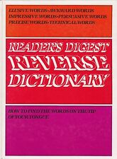 REVERSE DICTIONARY |Reader's Digest |How to find words on the tip of your tongue