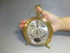 SWISS MUSICAL ALARM CLOCK UNIQUE REUGE POCKET WATCH STYLE CASE (WATCH THE VIDEO)