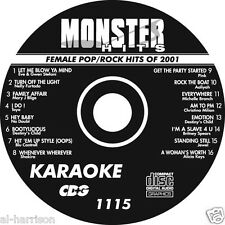 Karaoke Monster Hits Cd+G Female Pop/Rock Hits Of 2001 #1115
