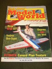 R C MODEL WORLD - OSPREY 100 TEST - JULY 1989