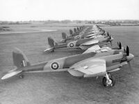 B&W WWII Photo British RAF Mosquito Fighters World War Two Royal Air Force WW2