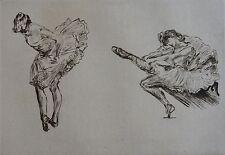 RENOUARD PAUL (1845-1924) : Danseuses. Eau forte. Byblis, 1925