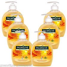 (10,98€/L) 6x 300ml Palmolive Naturals Seidig Zarte Pflege Honig Handseife