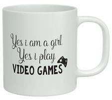 Yes I am a Girl, Yes I Play Video Games Funny White 10oz Novelty Gift Mug