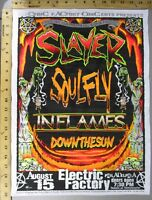 2001 Rock Concert Poster Slayer Soul Fly Mike Fisher Jeff Wood S/N LE 150 Philly