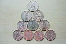 TEN 1960 New Zealand Half Penny's- Higher Grade