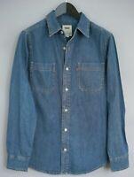Men Levi Strauss & Co Casual ShirtBlue Denim Cotton S MEA481