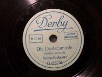 """ORCHESTER """"Die Dorfschmiede / Heinzelmännchens Wachtparade"""" Derby 20cm 78rpm"""