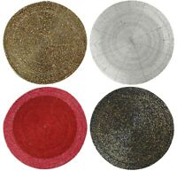 Placemat Charger Coaster - Gold Black Silver Red Bronze Table Setting Tablemat
