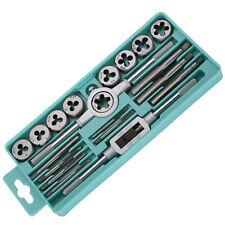 20pcs Taps Dies Sets 1/2''-6''NC Screw Thread Inch Plugs Taps Carbon Steel Tool