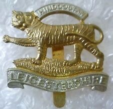 Badge- Leicestershire Regiment Cap Badge (Bi-metal, Org) Slider