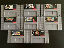 Super Nintendo Games Lot Of 8