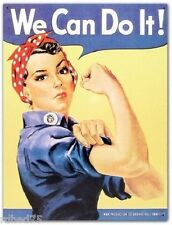 We Can Do It Rosie the Riveter TIN SIGN poster metal vintage art wall decor 796