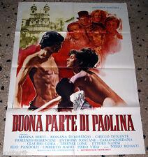 manifesto 2F original BUONA PARTE DI PAOLINA Antonia Santilli Nello Rossati 1973