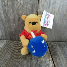 Vtg Pooh Bear Plush Hanukkah Winnie Dreidel Holiday Stuffed Animal Bean Disney