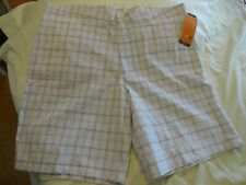 Champion White Plaid Advanced High Performance Men's Golf Shorts ( 40 x 9.5 )NWT
