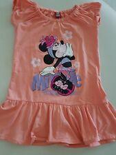 Disney Mickey mouse Vestito Bimba Taglia5/6  Anni Colore pesca mezza manica