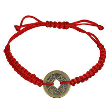 Kabbalah Red String Friendship Bracelet With Lucky Coin Charm