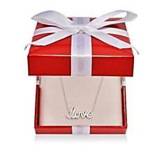 """Giani Bernini Necklace 18"""" Sterling Silver Love Script Pendant"""