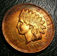 OLD US COINS 1902 INDIAN HEAD CENT PENNY HIGRADE FULL LIBERTY CHOICE GEM BEAUTY