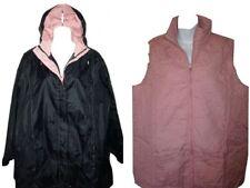 Mac Jacket & Body Warmer Gilet SET UK18/20 Hood Lightweight Navy Blue & Pink