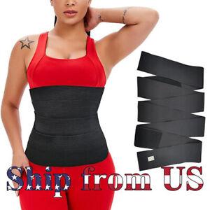 Snatch Me Up Bandage Wrap Lumbar Waist Support Sauna Belt Trimmer Body Shaper 6M