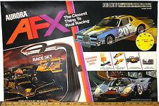 1983 Aurora AFX G+ HO Slot Car RACE SET COVER ART PRINT Original Box Overlay OEM