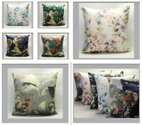Velvet Floral Cushion Cover 16in x 16in Featuring Abstract Peony or Hydrangea