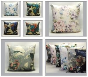 Velvet Floral Cushion Cover Featuring Abstract Peony or Hydrangea