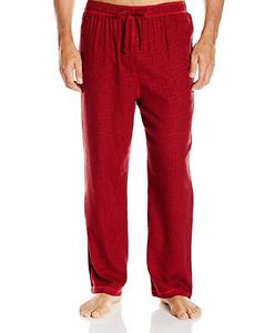 $40 Nautica Men'S Pajamas Pj Flannel Lounge Pants Red Black Sleepwear Size M