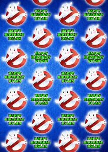 GHOSTBUSTERS Personalised Gift Wrap - Ghostbusters Wrapping Paper - Slimmer D2